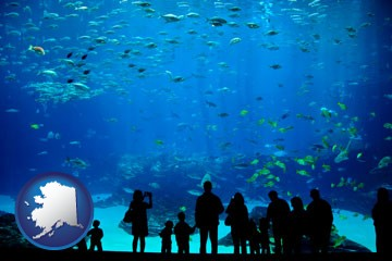 an aquarium - with Alaska icon