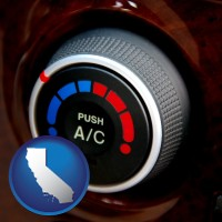 california an automobile air conditioner control knob