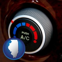 illinois an automobile air conditioner control knob