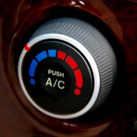 an automobile air conditioner control knob
