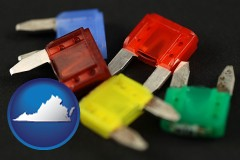 virginia colorful automobile fuses