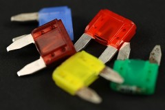 colorful automobile fuses