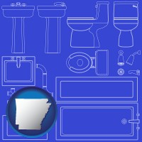 arkansas a bathroom fixtures blueprint