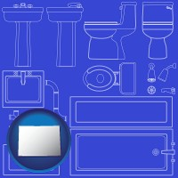 colorado a bathroom fixtures blueprint
