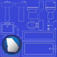 georgia a bathroom fixtures blueprint