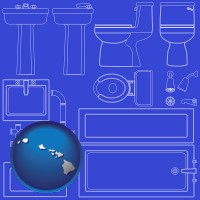 hawaii a bathroom fixtures blueprint