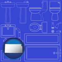 kansas a bathroom fixtures blueprint
