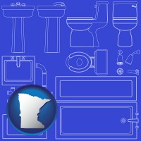 minnesota a bathroom fixtures blueprint