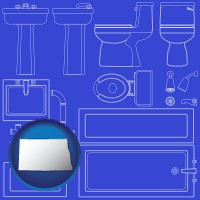 north-dakota a bathroom fixtures blueprint