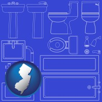 new-jersey a bathroom fixtures blueprint