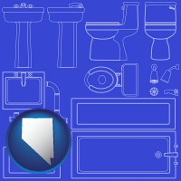 nevada a bathroom fixtures blueprint