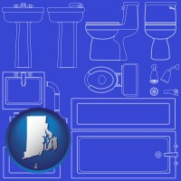 rhode-island a bathroom fixtures blueprint