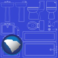 sc map icon and a bathroom fixtures blueprint