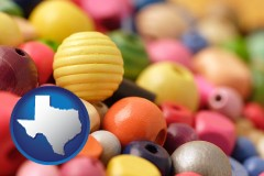 texas colorful beads