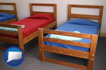 summer camp beds - with Connecticut icon