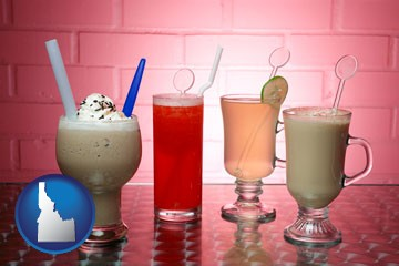 four beverages - with Idaho icon