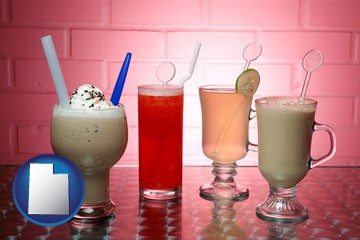four beverages - with Utah icon
