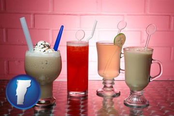 four beverages - with Vermont icon