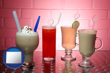 four beverages - with Wyoming icon