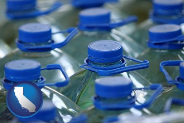 bottled water - with California icon