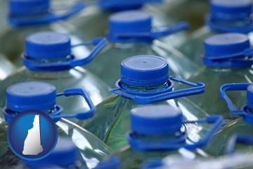bottled water - with New Hampshire icon