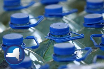 bottled water - with New York icon