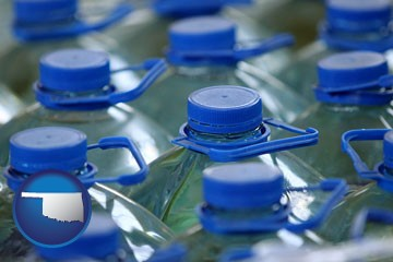 bottled water - with Oklahoma icon