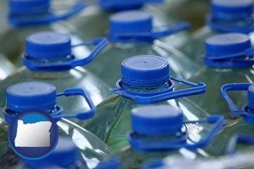 bottled water - with Oregon icon