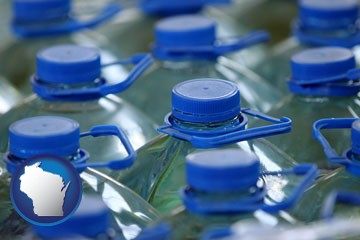 bottled water - with Wisconsin icon