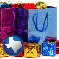 texas gift bags and boxes