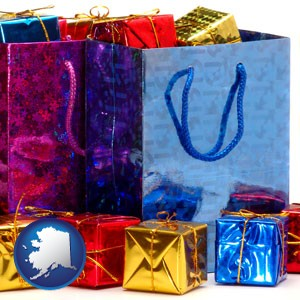 gift bags and boxes - with Alaska icon