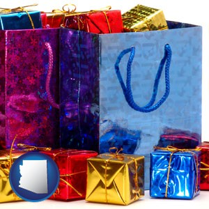gift bags and boxes - with Arizona icon