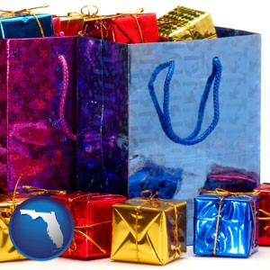 gift bags and boxes - with Florida icon