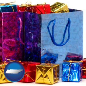 gift bags and boxes - with Tennessee icon