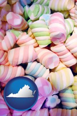 virginia colorful candies