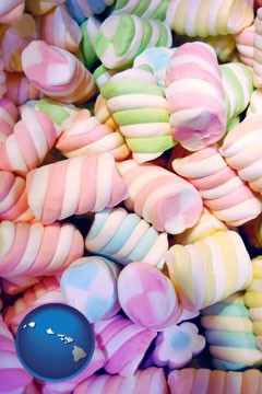 colorful candies - with Hawaii icon