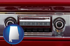 alabama a vintage car radio