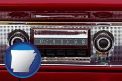 arkansas a vintage car radio