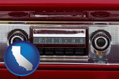 california a vintage car radio