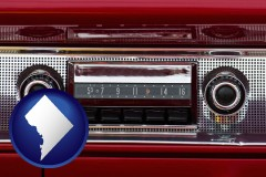 washington-dc a vintage car radio
