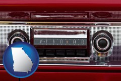 georgia a vintage car radio