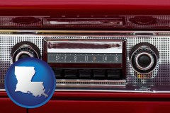 louisiana a vintage car radio