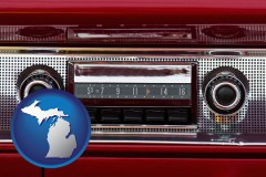 michigan a vintage car radio
