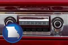missouri a vintage car radio