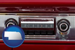 nebraska a vintage car radio