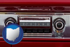 ohio a vintage car radio
