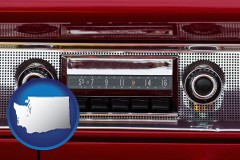washington a vintage car radio