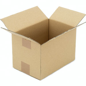 an open cardboard box