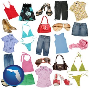female clothing and accessories - with Florida icon