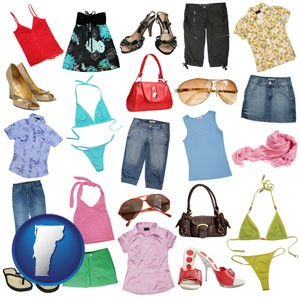 female clothing and accessories - with Vermont icon